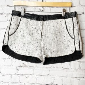 Dolce Vita   Tweed and Leather Trimmed Shorts